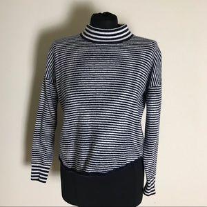 Madewell Blue/White Crop Sweater
